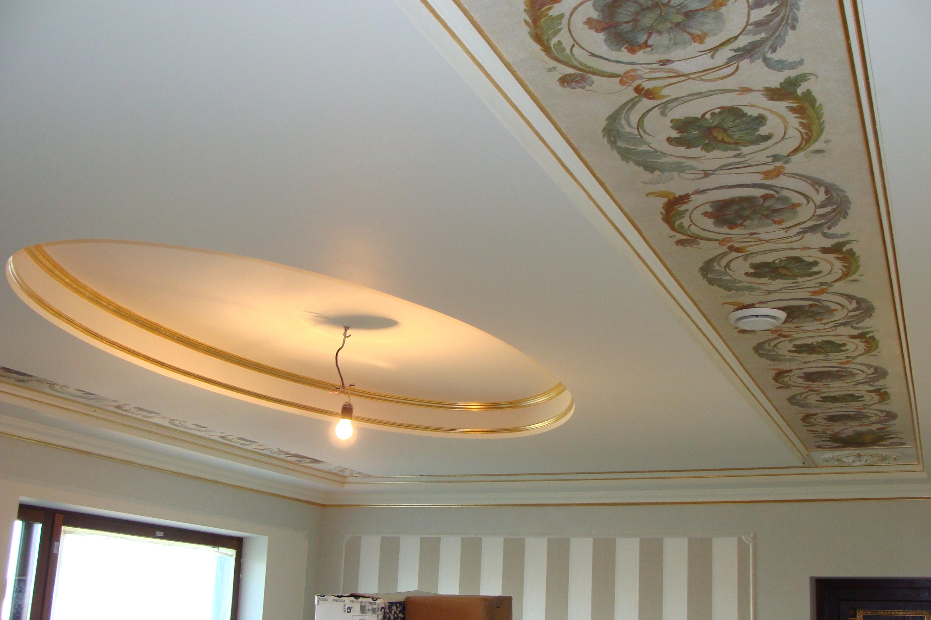 Дизайнерские работы потолков из гипса
